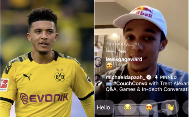 Jadon Sancho and Trent Alexander Arnold