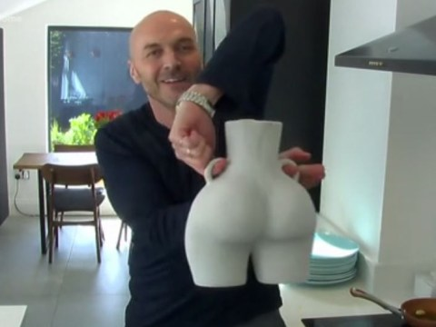 Sunday Brunch viewers distracted by Simon Rimmer's nude vase: 'Was the bottom intentional?'