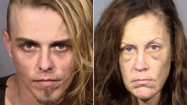Mugshots of Corey Trumbull and Stormy Johnson