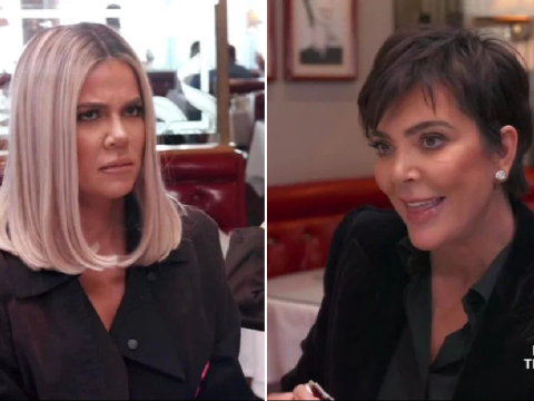 Kendall Jenner and Khloe Kardashian cringe after mum Kris Jenner overshares about her sex life with Corey