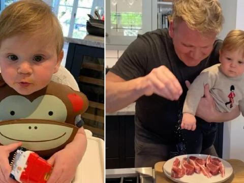 Gordon Ramsay shrugs off lockdown criticism with adorable son Oscar