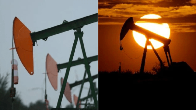 US oil prices fall into the negative in a record-low as demand vanishes