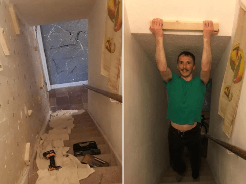 Man turns council flat into his own indoor rock-climbing centre in lockdown