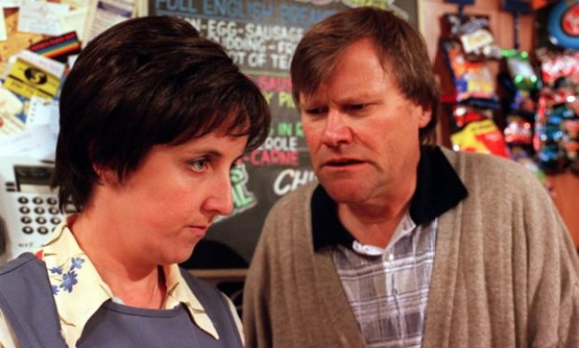 Hayley and Roy in Coronation Street