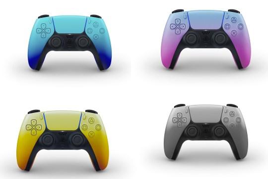 PS5 DualSense controller colour gradients