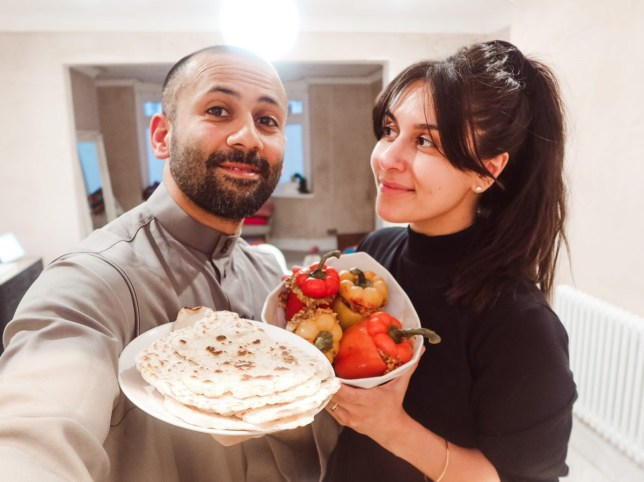 Muslim blogger and her husband