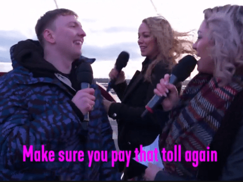 Joe Lycett teams up with Atomic Kitten and Kim Woodburn for iconic Whole Again remix