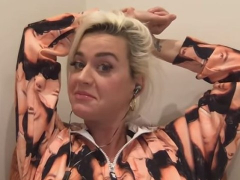 Katy Perry wears onesie with fiance Orlando Bloom's face all over it and shares how she deals with pregnancy cravings in lockdown