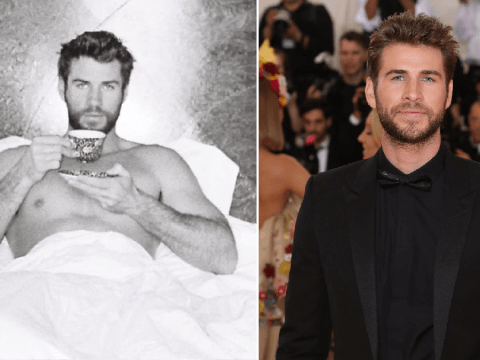 Liam Hemsworth goes topless to send coronavirus message: 'Happy Easter, stay in bed'
