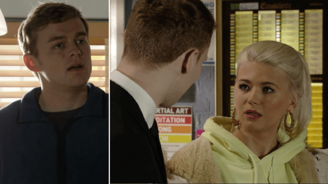 Lola, Peter and Jay in EastEnders