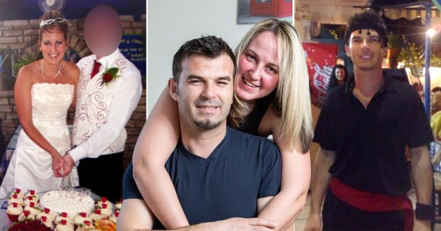 Woman pictured with her ex husband and her new husband