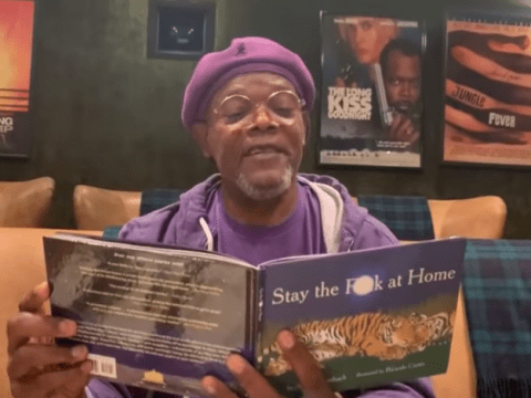 Samuel L Jackson implores people to 'stay the f*** at home' as he reads incredible social distancing poem