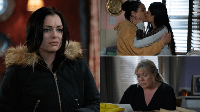 Whitney, Ash, Iqra and Sharon in EastEnders