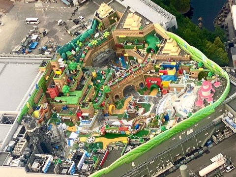 Super Nintendo World theme park secret aerial shots look amazing