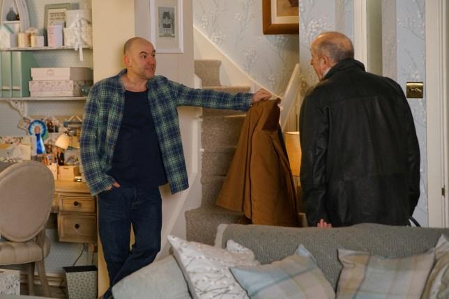 Tim and Geoff in Coronation Street
