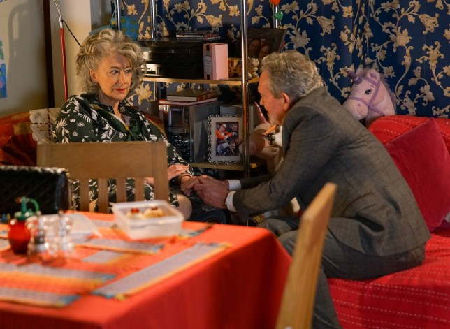 Evelyn and Arthur in Coronation Street