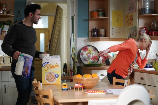 Jean and Kush in EastEnders