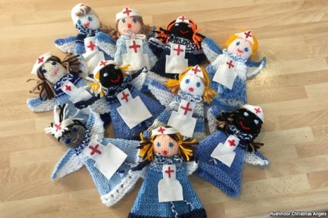 A stack of Knitted Angels
