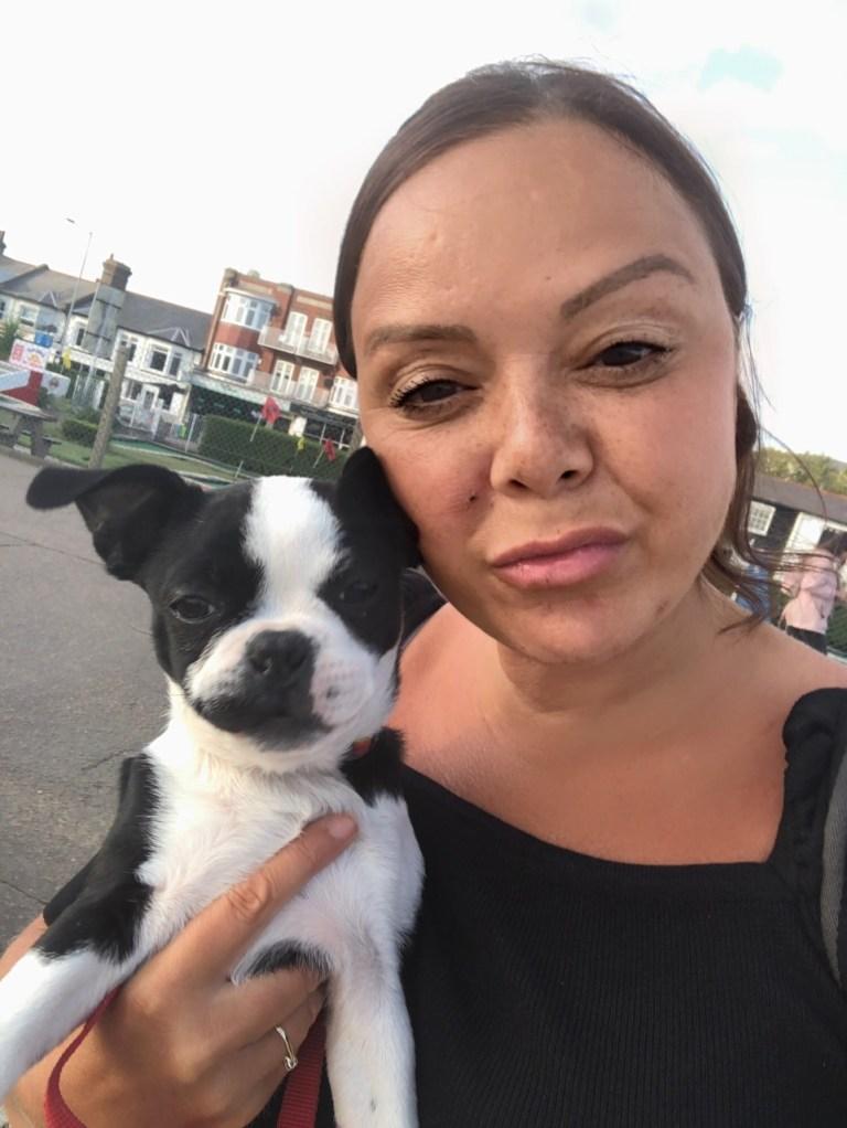 Donia and dog