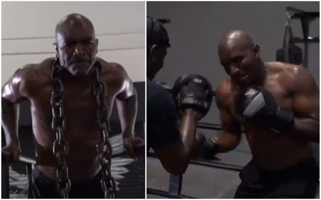 Evander Holyfield has revealed his most impressive boxing training montage to date