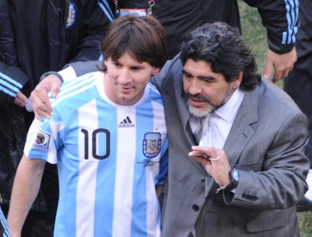 Argentinians Diego Maradona and Lionel Messi are two of the greatest footballers in the history of the sport