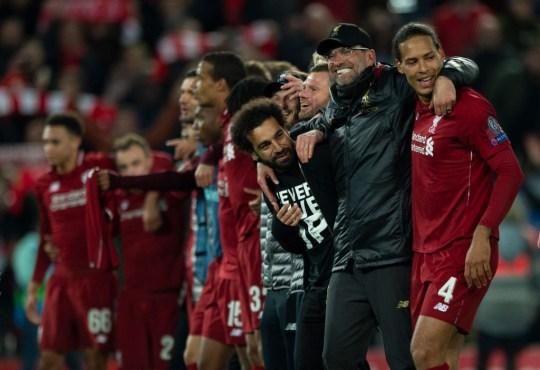 Jurgen Klopp and the Liverpool squad