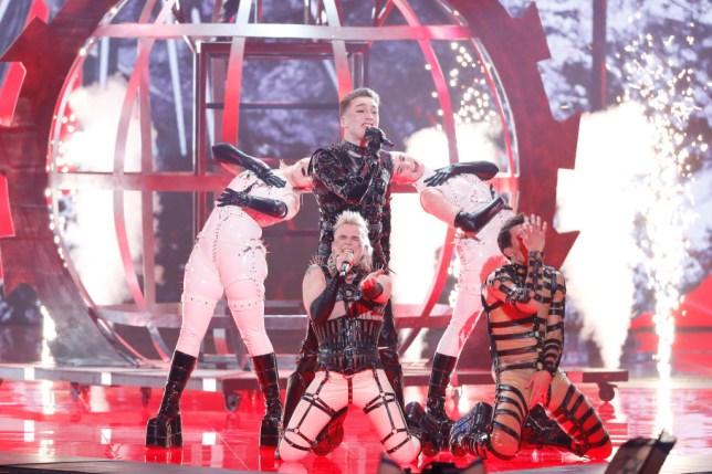 hatari performing at eurovision 2019