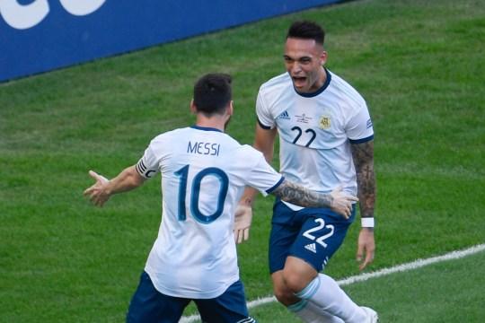 Lionel Messi et Lautaro Martinez