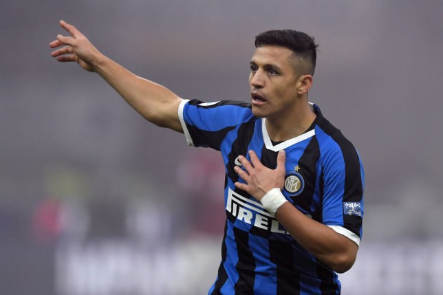 STADIO GIUSEPPE MEAZZA, MILAN, ITALY - 2020/02/09: Alexis Sanchez of FC Internazionale reacts during the football match between FC Internazionale and AC Milan. Internazionale won over AC Milan 4-2. (Photo by Andrea Staccioli/LightRocket via Getty Images)
