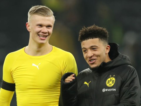 Erling Haaland appears to take pop at Borussia Dortmund teammate Jadon Sancho's fitness