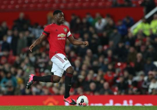 Teden Mengi in action for Manchester United