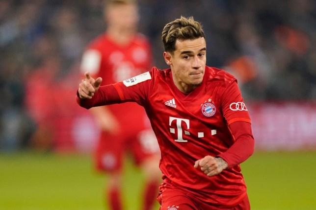 Bayern Munich's on-loan midfielder Philippe Coutinho