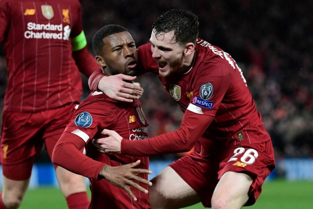 Georginio Wijnaldum and Andy Robertson