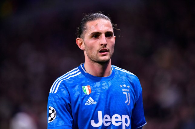 Arsenal transfer target Adrien Rabiot looks on during Juventus' Chmpions League clash with Lyon