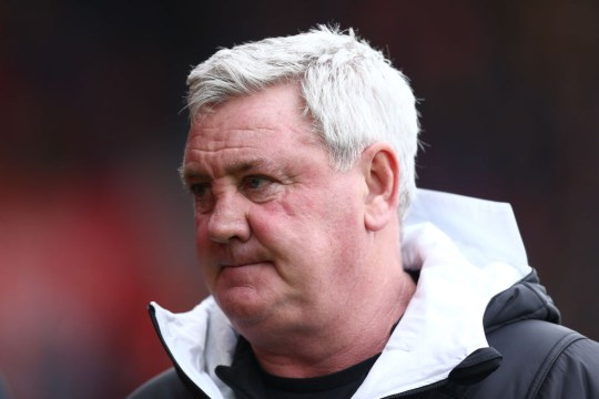 Steve Bruce looks on during Newcastle's Premier League clash with Southampton
