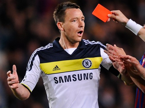 John Terry names sending off against Barcelona as his 'silliest' decision in Chelsea career