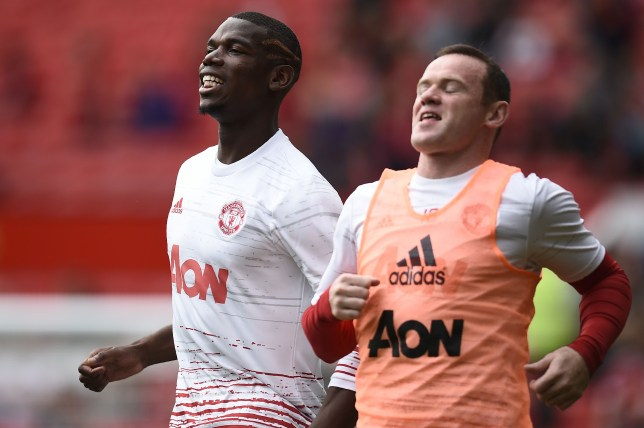 Man Utd stars Paul Pogba and Wayne Rooney
