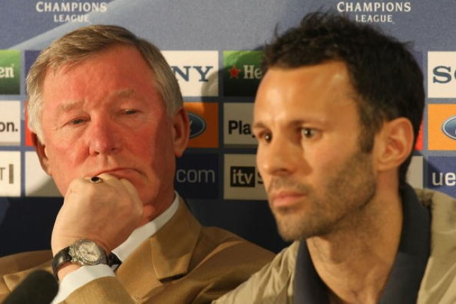 Sir Alex Ferguson and Ryan Giggs during a Manchester United press conference