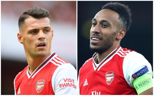 Granit Xhaka says it would be a 'great loss' if Pierre-Emerick Aubameyang left Arsenal