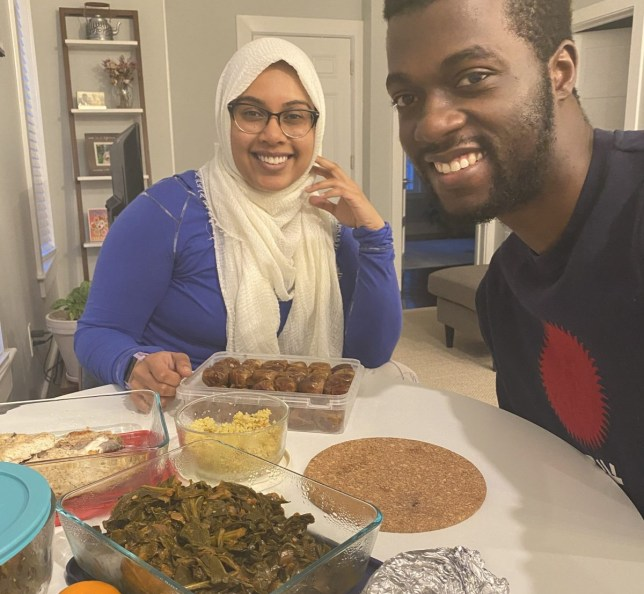 Man and woman preparing to break their fast