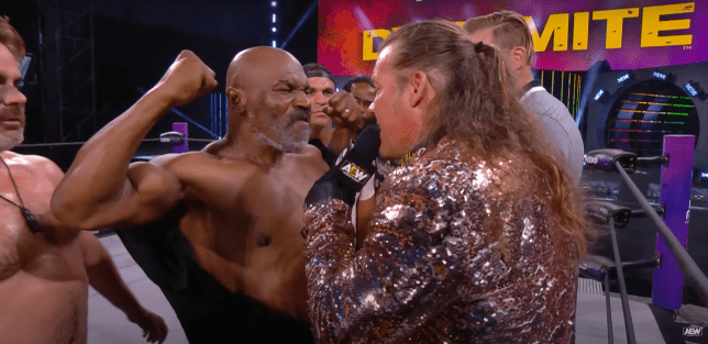 Boxer Mike Tyson and All Elite Wrestling star Chris Jericho on Dynamite