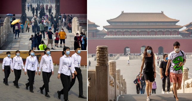 Beijing has started opening parks and museums to tourists after it downgraded its level of emergency response to coronavirus (Picture: AP - Reuters)