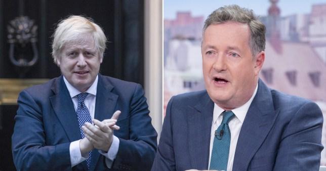 Boris Johnson (left) and Piers Morgan (right)