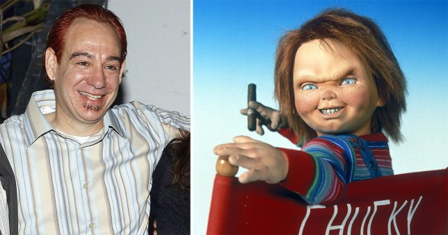 John Lafia and Chucky from Child's Play