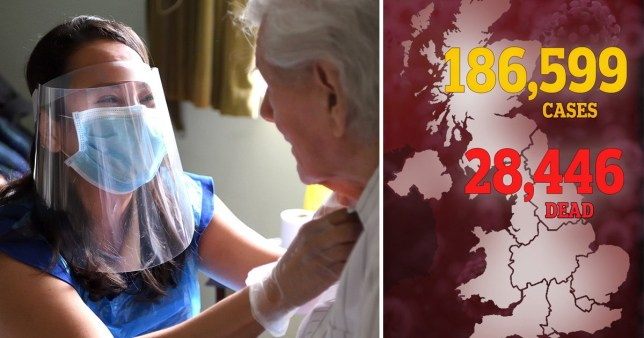 UK death toll jumps to 28,446 as another 315 die from coronavirus