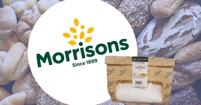 Morrisons flour in new smaller bags
