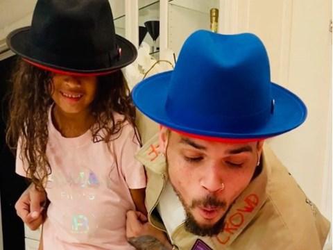 Chris Brown's daughter Royalty designs cute cake as singer celebrates his 31st birthday