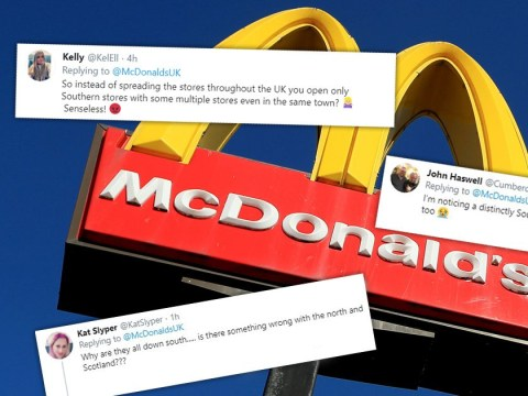 McDonald's sparks north-south divide by not opening branches above Luton