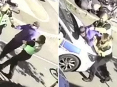 Cop who kicked boy in the head also punched cyclist