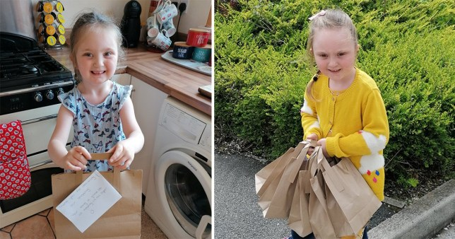 Girl delivers 1,000 goody bags packed with treats to key workers ...